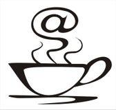 Concetto del caffè del Internet Fotografia Stock