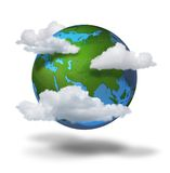 Concetto del cambiamento di clima Fotografia Stock