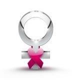 Concetto del cancro della mammella Fotografia Stock