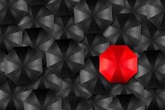 Concetto del capo dell'ombrello Fotografie Stock Libere da Diritti