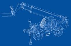 Concetto del carrello elevatore Vettore illustrazione vettoriale