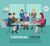 Concetto del centro di Coworking royalty illustrazione gratis