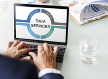Concetto del centro di protezione delle informazioni di dati immagine stock