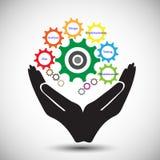 Concetto del ciclo di vita di sviluppo di software Immagini Stock Libere da Diritti