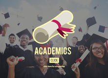 Concetto del collage di istruzione scolastica dei Academics Immagini Stock Libere da Diritti