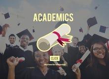 Concetto del collage di istruzione scolastica dei Academics Fotografia Stock