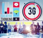 concetto del collegamento dell'innovazione di tecnologia della rete 3G Immagini Stock