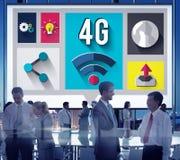concetto del collegamento di comunicazione di Internet di tecnologia 4G Fotografia Stock