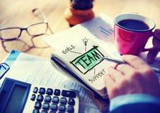 Concetto del collegamento di Team Accounting Working Office Cooperation Fotografia Stock