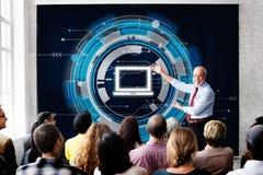 Concetto del collegamento di tecnologia informatica dell'informazione Fotografia Stock