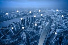 Concetto del collegamento e della rete Immagine Stock Libera da Diritti