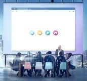 Concetto del collegamento a Internet di ottimizzazione del motore di ricerca Immagine Stock