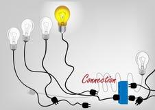 Concetto del collegamento per rete a successo, illustrazione di vettore Fotografia Stock Libera da Diritti