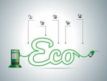 Concetto del combustibile di eco di vettore Fotografia Stock