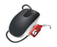 Concetto del combustibile. Topo senza fili del computer Fotografia Stock