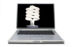 Conservazione di concetto del computer portatile Fotografie Stock Libere da Diritti