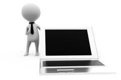 concetto del computer portatile di affari 3d Fotografia Stock