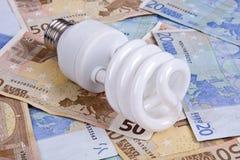Concetto del consumo di elettricità Immagine Stock Libera da Diritti