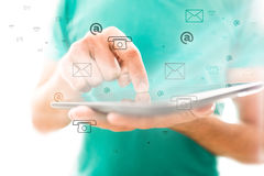 Concetto del contatto e di comunicazione dello Smart Phone Immagini Stock Libere da Diritti