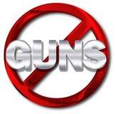 Concetto del controllo delle armi Fotografia Stock