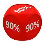 Concetto 90% del cubo di sconto Fotografia Stock