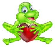 Concetto del cuore della rana Fotografie Stock