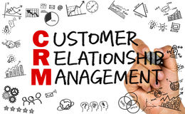 Concetto del customer relationship management Fotografie Stock Libere da Diritti