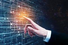 Concetto del Cyberspace e dell'innovazione Immagini Stock Libere da Diritti