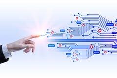 Concetto del Cyberspace e del software Immagini Stock Libere da Diritti