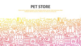 Concetto del deposito dell'animale domestico illustrazione di stock