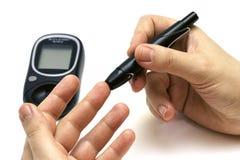Concetto del diabete Fotografie Stock