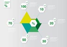 Concetto del diagramma per i siti Web o la stampa Fotografia Stock Libera da Diritti