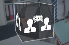 Concetto del dialogo immagini stock libere da diritti