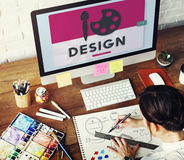 Concetto del disegno della pittura di Art Paint Creative Creation Design Immagini Stock