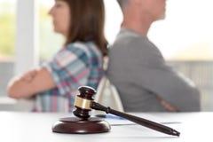 Concetto del divorzio, fuoco su priorità alta Fotografia Stock Libera da Diritti