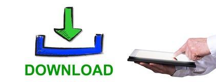 Concetto del download immagine stock