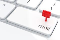 Concetto del email Fotografia Stock