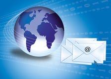 Concetto del email con il globo Fotografia Stock