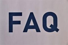 Concetto del FAQ Domande frequentemente fatte immagini stock libere da diritti