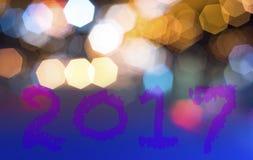 Concetto 2017 del fondo del nuovo anno Immagini Stock Libere da Diritti