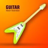 Concetto del fondo della chitarra Illustrazione di vettore Fotografia Stock
