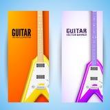 Concetto del fondo della chitarra Illustrazione di vettore Immagine Stock Libera da Diritti
