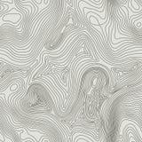 Concetto del fondo della mappa topografica con spazio per la vostra copia Linee contorno di arte, traccia di topografia di escurs illustrazione di stock