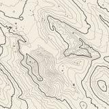 Concetto del fondo della mappa topografica con spazio per la vostra copia Linee contorno di arte, traccia di topografia di escurs Fotografia Stock Libera da Diritti