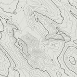 Concetto del fondo della mappa topografica con spazio per la vostra copia Linee contorno di arte, traccia di topografia di escurs Fotografie Stock Libere da Diritti