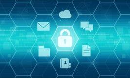 Concetto del fondo di dati di sicurezza di affari Immagini Stock