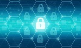 Concetto del fondo di dati di sicurezza di affari illustrazione di stock