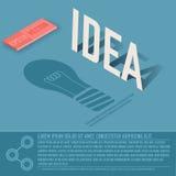Concetto del fondo di vettore di affari della carta di idea Fotografie Stock