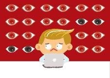 Concetto del fratello maggiore, sicurezza di Internet e sicurezza Fotografia Stock Libera da Diritti