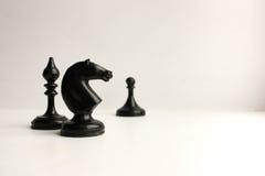 Concetto del gioco di affari Pezzo degli scacchi Immagini Stock Libere da Diritti
